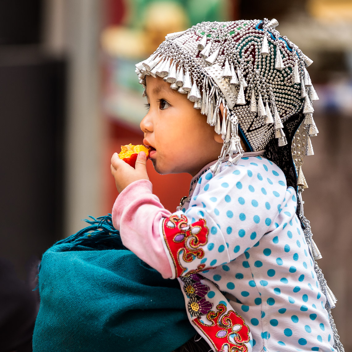 Girl with beautiful head dress